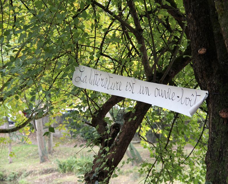 Écritures réactives [Les Ailleurs, Charleville-Mézières, France], 15 octobre 2016. Photo : Jacques Delforge.